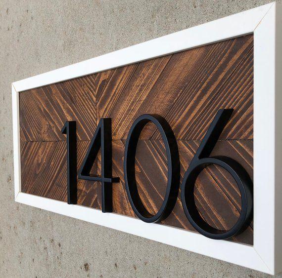 Horizontal House Numbers Horizontal Address Plaque Horizontal