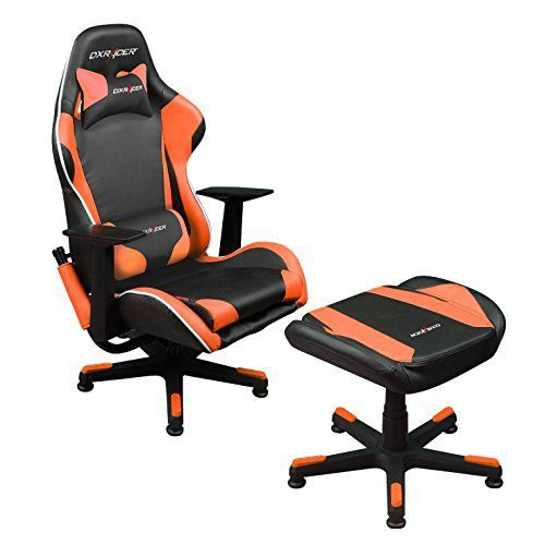 DXRacer Video Game Chair + Ottoman FA96NO/Suit Console Gaming Chair TV