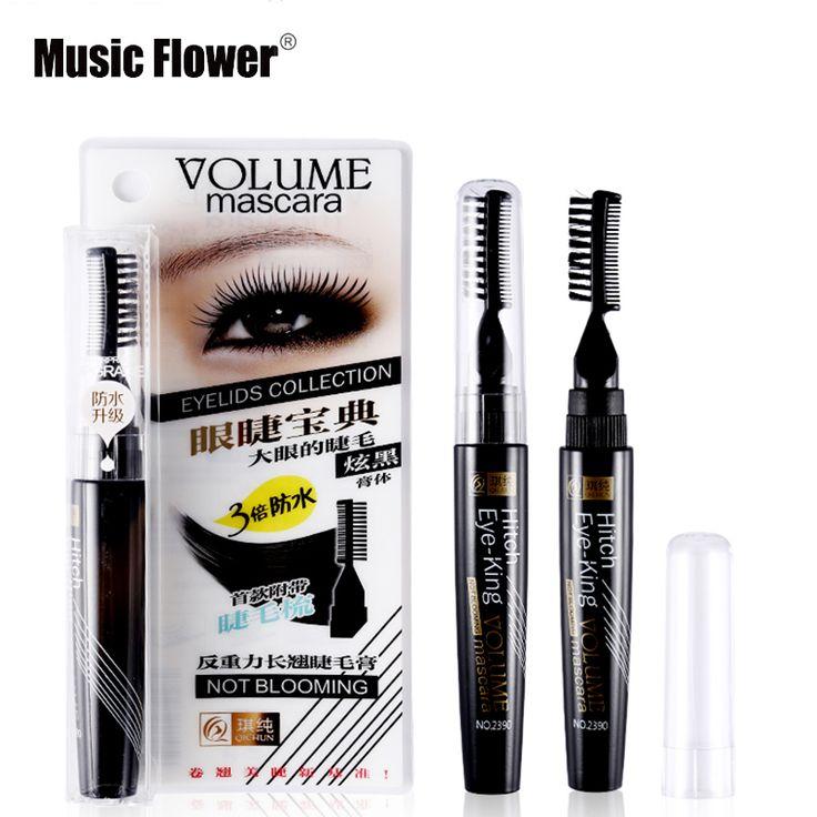 Music Flower Volume Curled Lashes Black Blue Purple Mascara Waterproof Densely Thick Eyelash Lengthening Eye Makeup With Comb