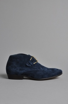 The Horse Hermine Shoes Blue Suede