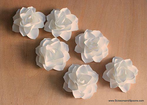 Flor de papel - Passo a passo