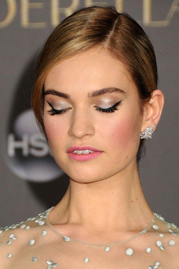 "How To Get The Cinderella: Lily James' Los Angeles ""Cinderella"" Premiere Makeup Look and Tutorial"