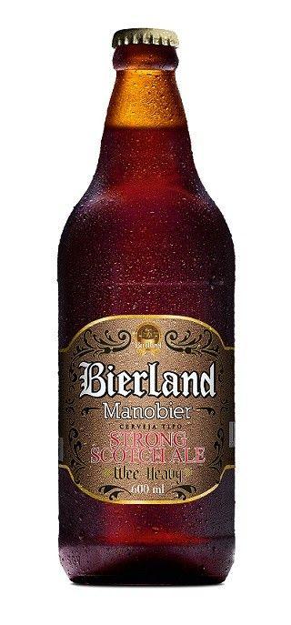 Cerveja Manobier, estilo Strong Scotch Ale, produzida por Bierland, Brasil. 7.2% ABV de álcool.
