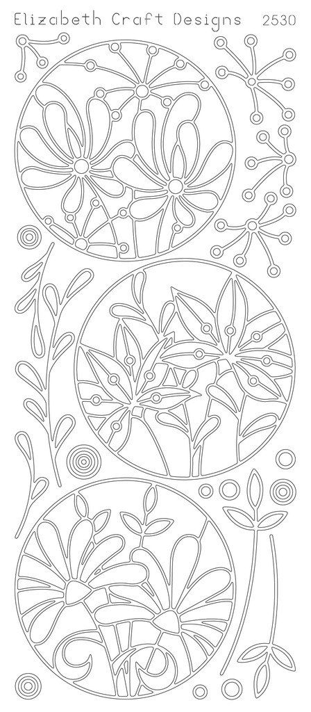 Elizabeth Craft Designs PeelOff Sticker 2530B Flower by PNWCrafts, $1.99