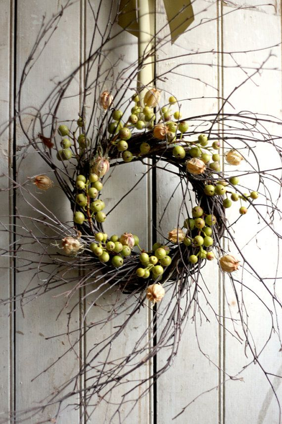 Crabapple Wreath Large by TheLinnetsWing on Etsy