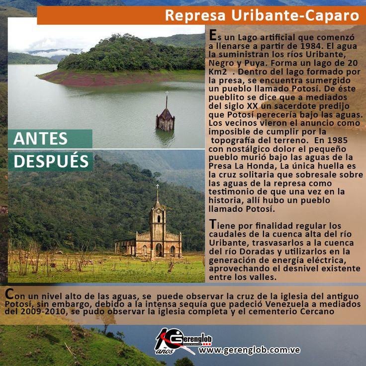 Obras. Represa Uribante-Caparo