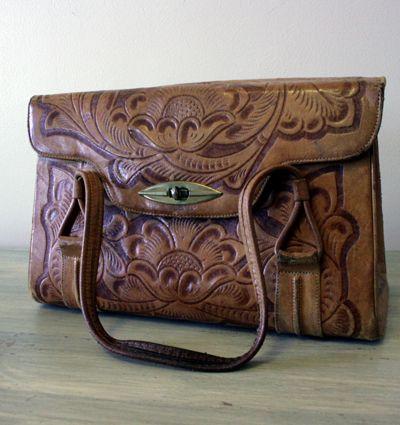 Tooled Leather Handbag