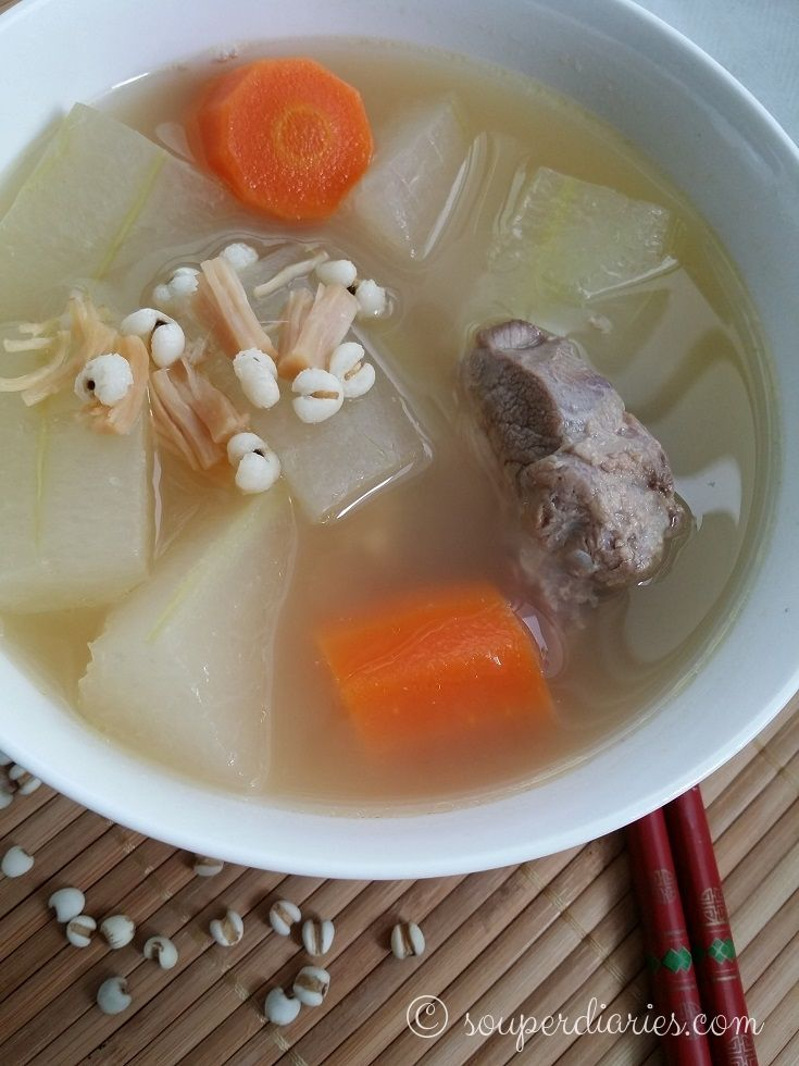 Winter Melon with Barley Soup - Souper Diaries