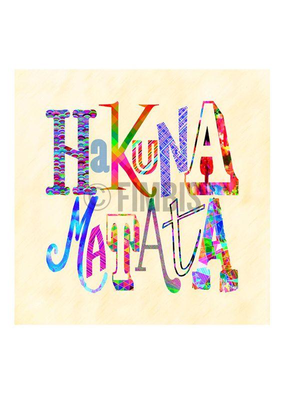 Hakuna Matata print  The Lion King  Typography Print by Fimbis  #fimbis #etsy #hakunamatata #thelionking #wallart #style #styleblog #fashion #fashionblogger #fashionblog #styleblogger #movie #designer #blue #typography #moviequote #lionking #disney #animation #interiors #fblogger #interiordesign #homedecor #homestyle #artprint #colourful #colorful