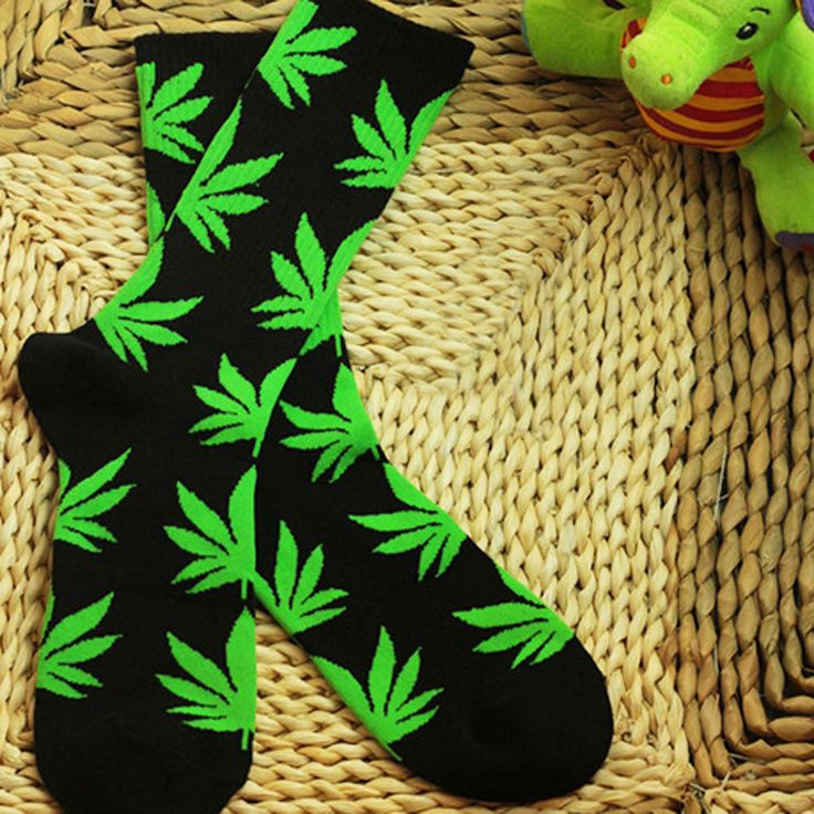Leisure Marijuana Weed Leaf Ankle High Socks Plantlife High Cotton Socks Hot #Notapplicable #EverydaySocks