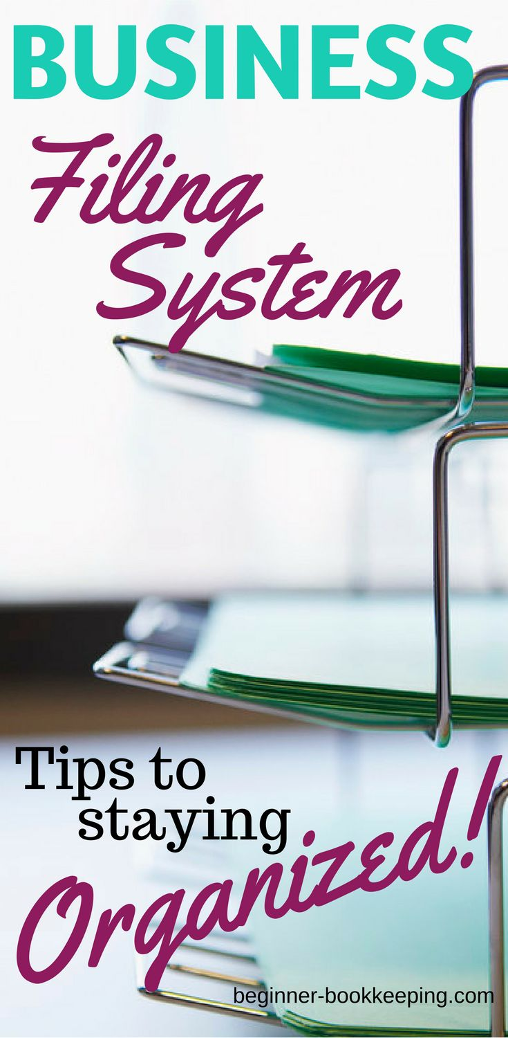 Small business filing system paper organization to help you find your documents fast.