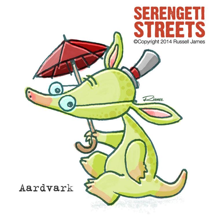 Serengeti Streets - Aardvark by Russell James