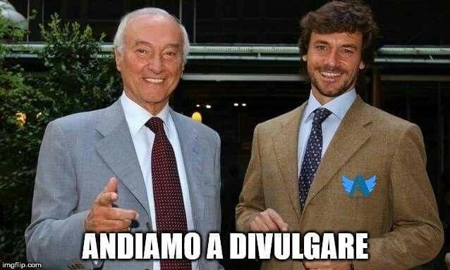 Andiamo a divulgare con Piero e Alberto Angela  Meme di @stepiccin sul gruppo fb Angelers - Fan di Alberto Angela