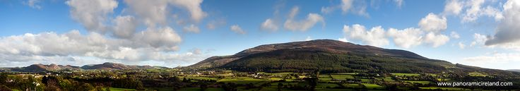Slieve Gullion panorama. Located in South Armagh, The Ring of Gullion is a geologist's dream - debate has been ongoing for decades as to the origins of these rocks.  At 573m this is the highest point in the county of Armagh, Northern Ireland's smallest county.