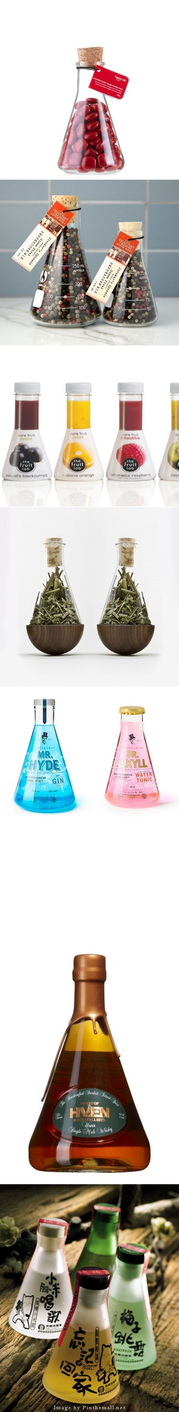 """A collection of clever """"flask"""" packaging to share with the PPOTD team created via Packaging Diva packaging boards PD"""