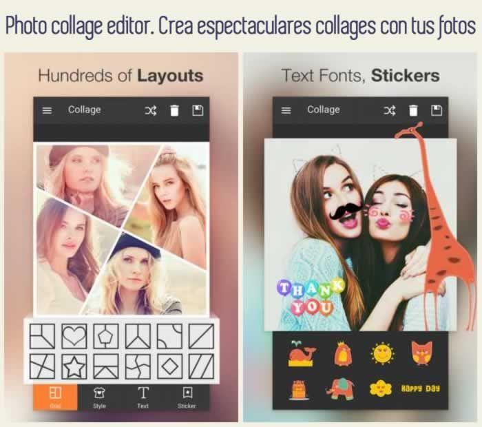 Photo collage editor. Crea espectaculares collages con tus fotos #apps #fotografía