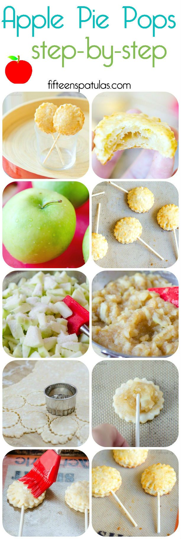 Apple Pie Pops with Cheddar Crust from @Fifteen Spatulas | Joanne Ozug #recipe