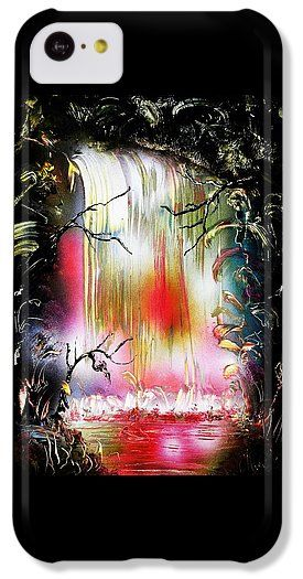 Dream Waterfall IPhone 5c Case Printed with Fine Art spray painting image Dream Waterfall by Nandor Molnar (When you visit the Shop, change the orientation, background color and image size as you wish)