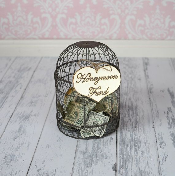 """Large Rustic Wedding """"Honeymoon Fund"""" Sign for Your Rustic, Country, Shabby Chic Wedding, Bridal Shower, or Bachelor/Bachelorette Party on Etsy, $8.99"""