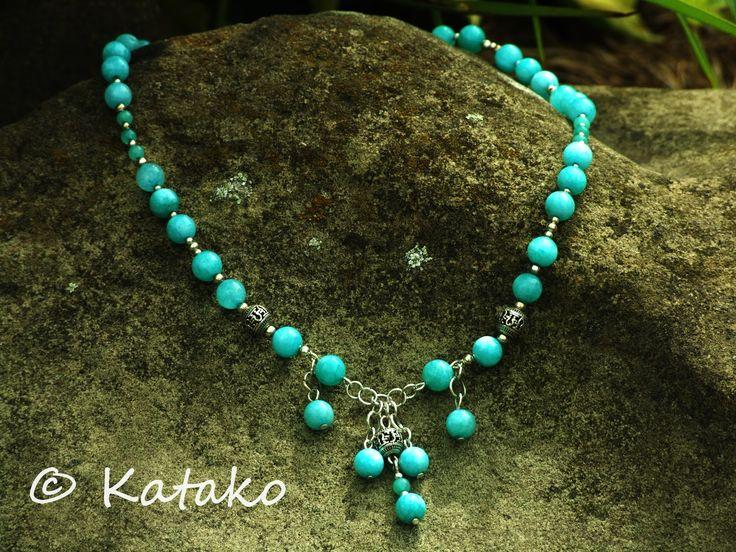 Katako: Amazonit Naszyjnik Necklace