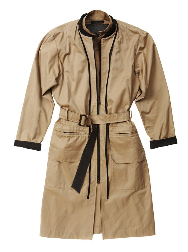 Collarless trench coat by WOOYOUNGMI
