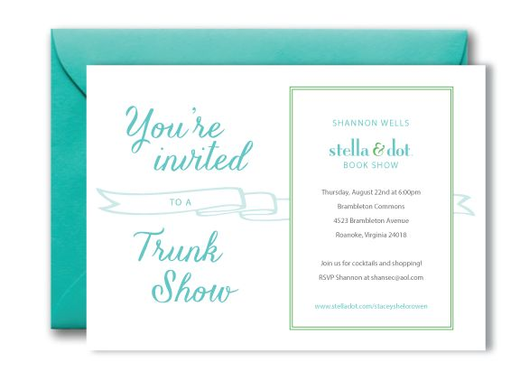 17 best images about trunk show invite ideas on pinterest for Stella and dot invitation templates