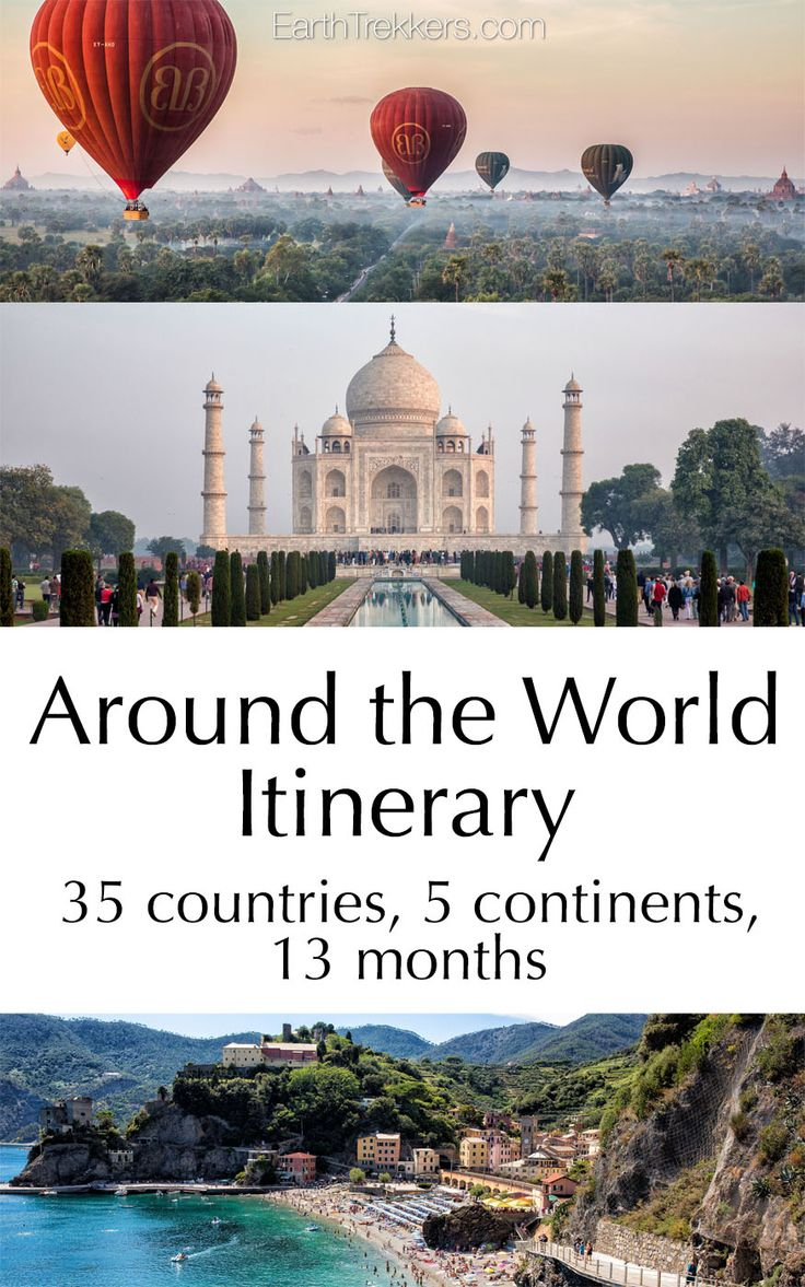 Around the World Itinerary: 35 countries, 5 continents, family around the world travel.