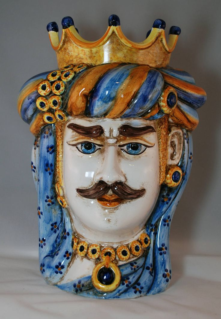 "Traditional Sicilian Saracen Head ""Testa di Moro"" by APutiaduRe on Etsy"