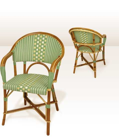 Collection Fauteuils tradition en rotin | chaise bistrot Drucker