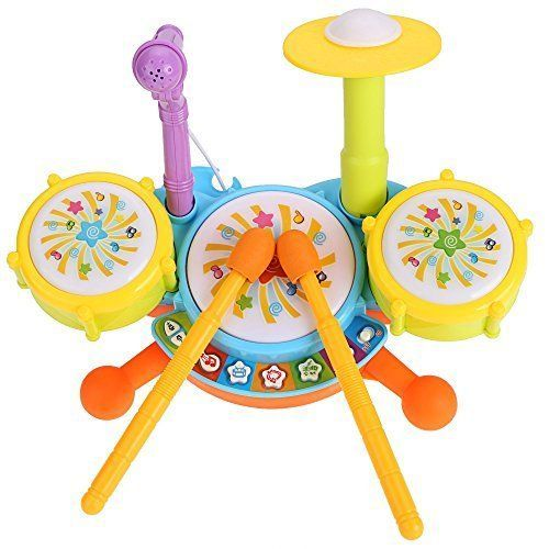 Arshiner Kids Drum Set Educational Toys for Toddlers Gifts ** You can get additional details at the image link.
