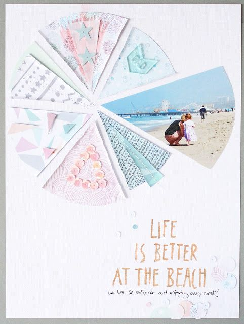 Scrap Sweet Scrap: 2 layouts made with the Collection Pirueta for EScrap