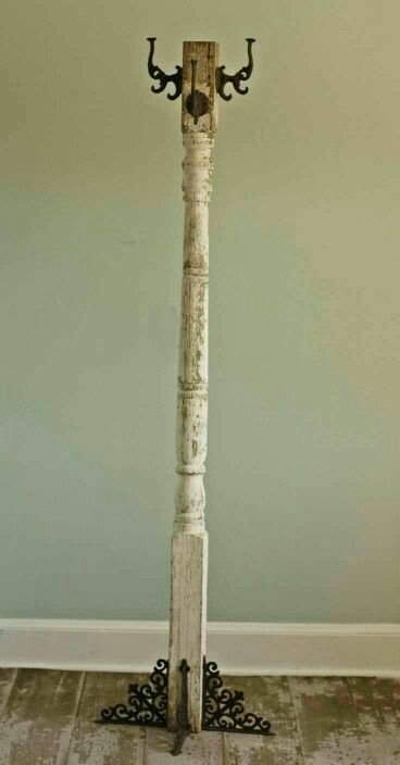 Coat Hanger out of an old tall spindle