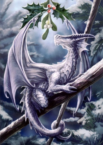 Snow Dragon card 'Anne Stokes Yule range' (AN11) 6's