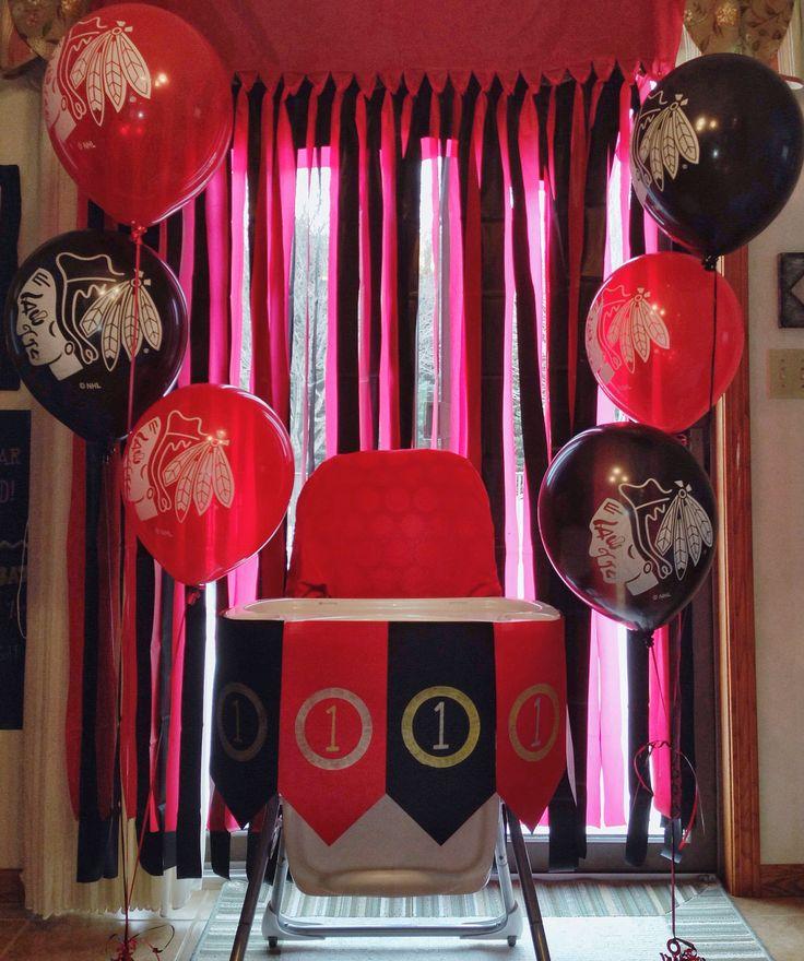 Birthday Celebration Chicago Style: Chicago Blackhawks Themed First Birthday Party! @Chicago