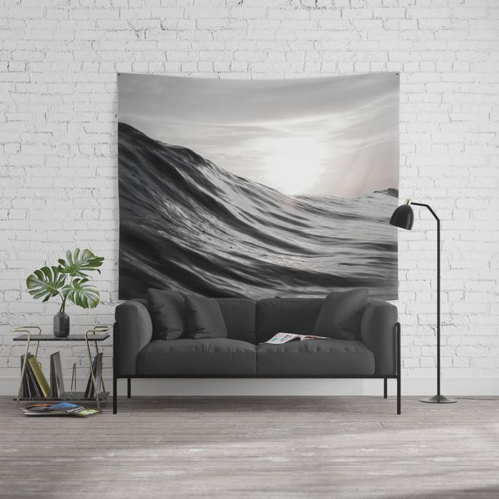 Motion of Water Wall Tapestry by Nicklas Gustafsson | Society6. The beautiful smooth shapes of water in motion captured in black and white. Picture taken in Costa  #water #ocean #sea #wave #motion #nature #smooth #surf #surfing #tapestry #walltapestry #wallart #homedecor