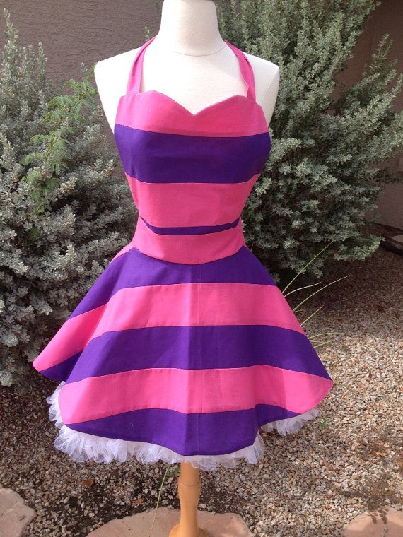 Cheshire Cat apron dress by AJsCafe on Etsy