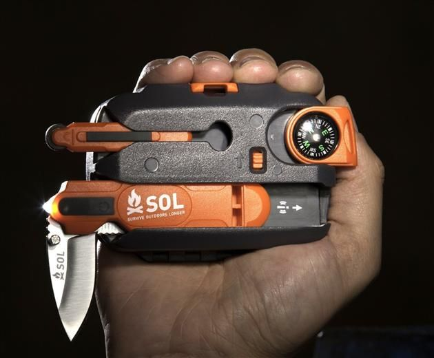 SOL ORIGIN: THE ULTIMATE SURVIVAL TOOL KIT | The tool comes with a handful of features from a one hand operable waterproof Fire Lite firestarter to a 100dB whistle that can be heard up to a mile away.