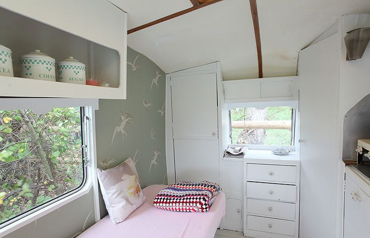 Little Bits of Lovely: French  Inside of an old renovated camper.