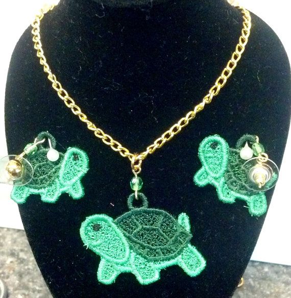 Green #Turtle #Necklace by teresadelosh on Etsy, $10.00