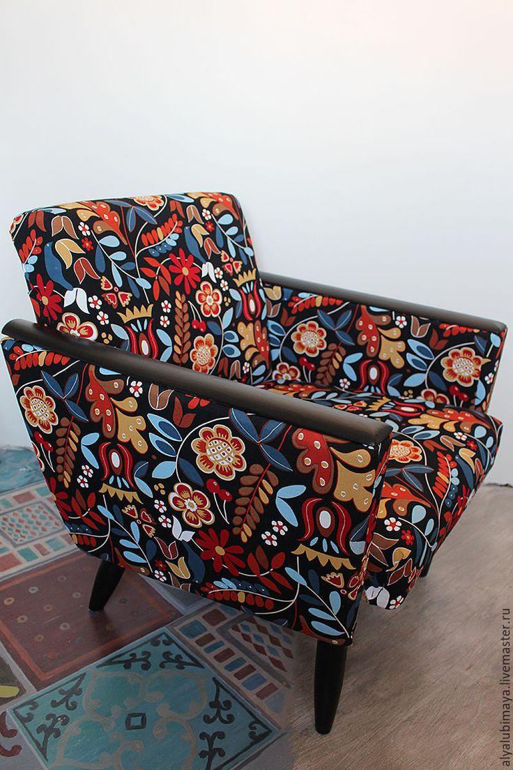 """Купить Кресло """"My love"""" - черный, кресло, стул, реставрация мебели, реставрация, перетяжка мебели"""
