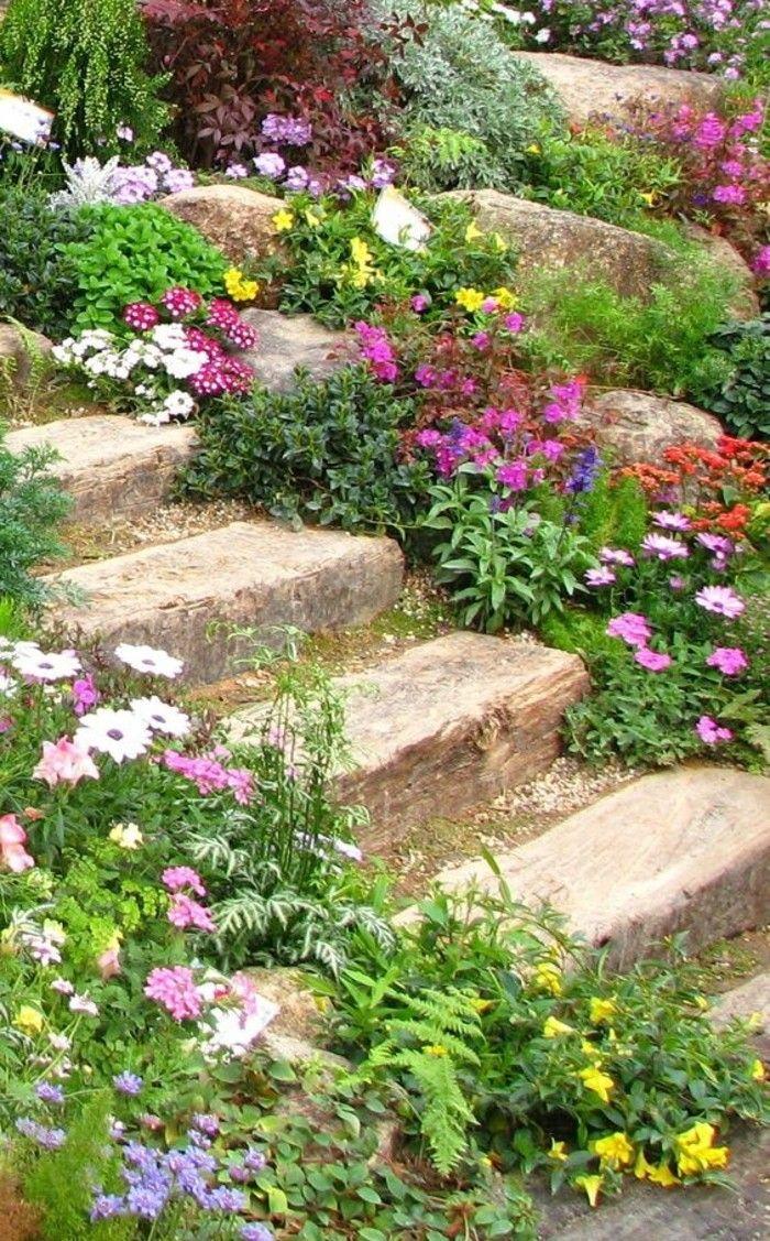 Les 1361 meilleures images propos de du jardin au paysage sur pinterest jardins pi ces de for Faire une rocaille au jardin