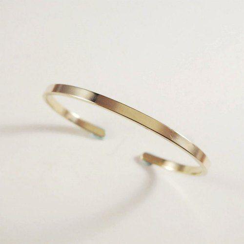 【MUCHU沐橘】簡約。黃銅手環(3mm) SB010