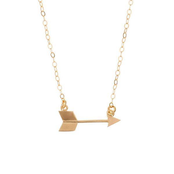 MINNIE GRACE gold Arrow charm necklace | La Luce