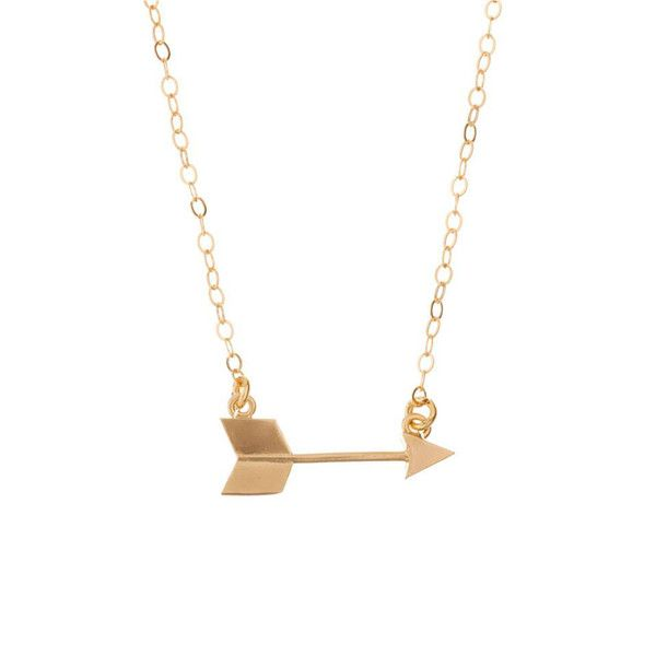 MINNIE GRACE gold Arrow charm necklace | La Luce