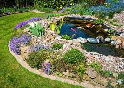 Alternative zu einfallsloser Teichgestaltung.