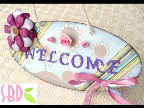 Scrapbooking Tutorial: Cartello Welcome - Welcome banner | EasyLooper