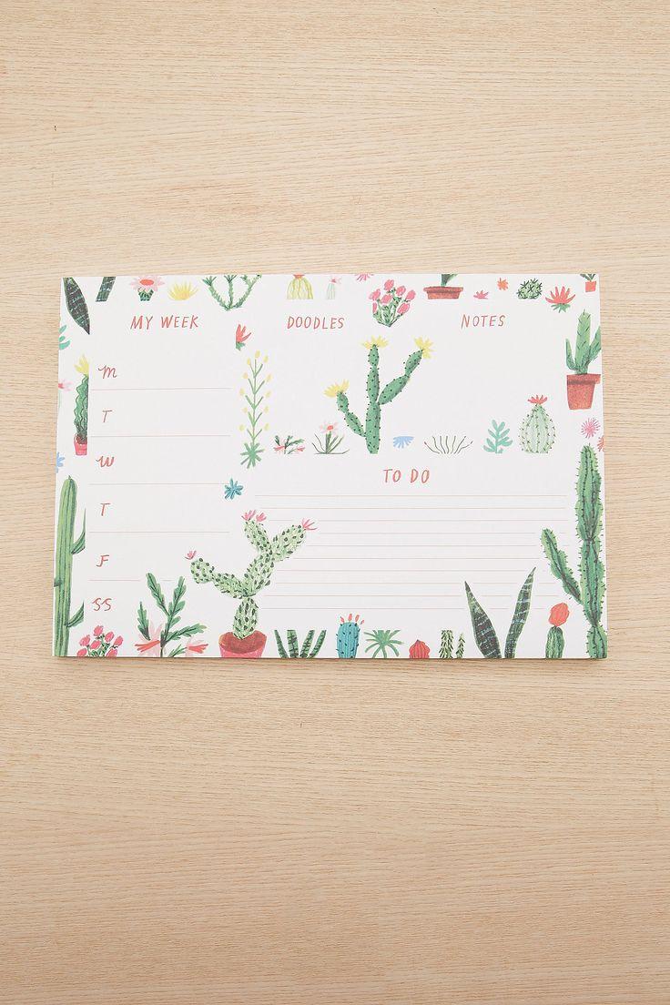 """Slide View: 3: Ohh Deer – A4-Schreibtischauflage """"Cool Cacti"""""""