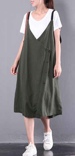 new green linen dresses plus size sleeveless dress