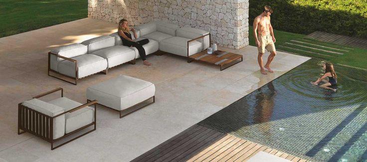 #outdoor #sofa #Casilda collection #Living – Talenti Srl