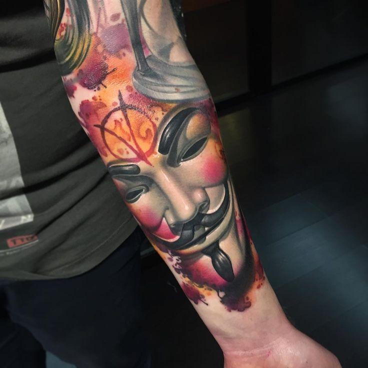 Vendetta Mask by Fede Gas Tattoo